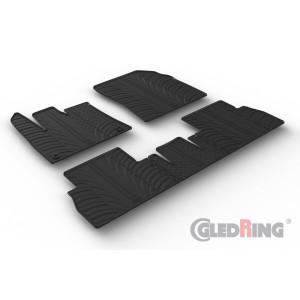 Gumeni tepisi za Peugeot Rifter (Suvozačevo sjedalo nije preklopljivo/oval fixing)