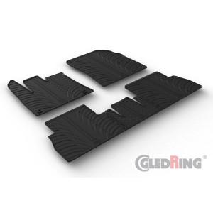 Gumeni tepisi za Citroen Berlingo (Suvozačevo sjedalo preklopljivo/oval fixing)